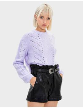 Sweater Com Decote Redondo Null   Bershka Portugal by Bershka