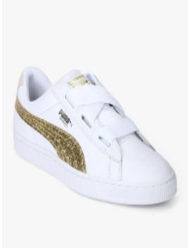 Basket Heart Glitter White Sneakers by Puma