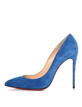 Christian Louboutin Veau Velours Pigalle Follies 100 Pumps 39 Positano by Christian Louboutin