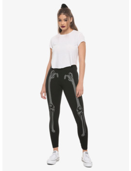 Reflective Skeleton Leggings by Hot Topic