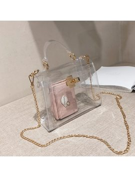 Pvc Clear Jelly Bag For Women 2019 Luxury Handbags Women Bags Designer Transparent Purses And Handbag Crossbody Bag Sac A Main by Ali Express.Com