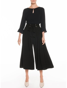 Drapey Tie Front Culottes by Veronika Maine