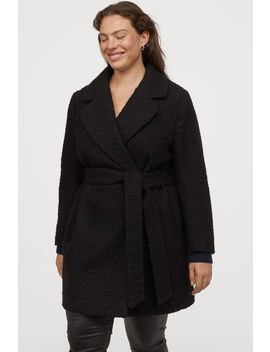 H&M+ Coat With A Tie Belt by H&M