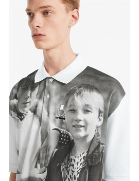 Raf Simons Oversized Shirt Aus Piqué Mit Schulter Print by Fred Perry