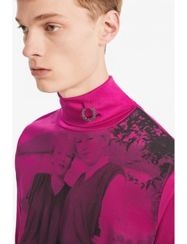 Raf Simons Rollkragentop Mit Print by Fred Perry