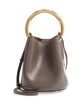 Pannier Top Handle Leather Bucket Bag by Marni