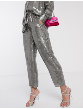 Asos Edition Sequin Shirt & Jogger Two Piece by Asos