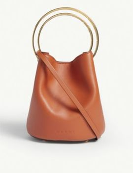 Pannier Small Double Handle Leather Bucket Bag by Marni