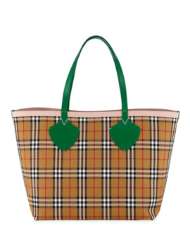 Burberry Giant Reversible Vintage Check Tote Bag by Burberry