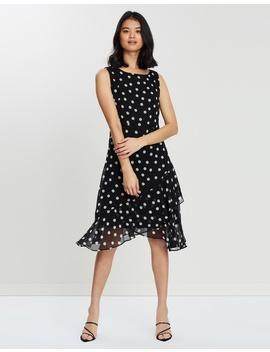 Spot Tiered Hem Dress by Wallis