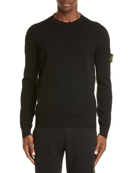 Logo Patch Wool Blend Sweatshirt by Stone Island