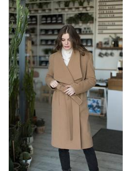 Wrap Camel Cashmere Coat by Etsy