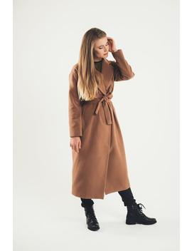 Maxi Wool Coat In Camel by Etsy