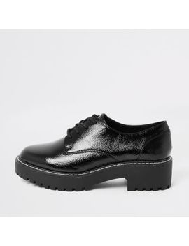 Black Lace Up Brogues by River Island