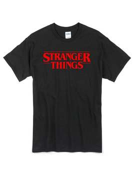 Stranger Things T Shirt Black 100% Cotton by Etsy