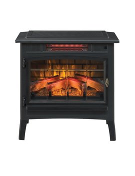 Black 3 D Flame Effect Infrared Quartz Electric Stove (Part Number: Dfi 5010 04 3 A) by Duraflame Electric