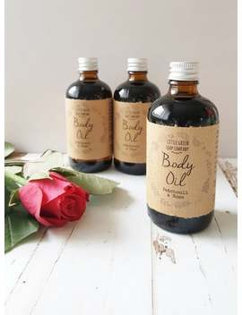 Body Oil, Massage Oil, Rose & Patchouli Or Jasmine Scented by Etsy