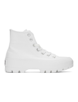 White Ctas Lugged Hi Sneakers by Converse