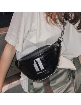 New Town   Letter Sling Bag by New Town