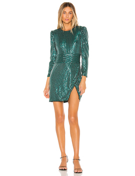 Rizzo Dress In Emerald by Saylor