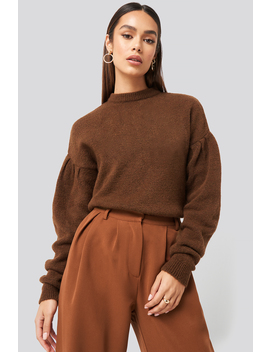 Drop Shoulder Pullover Brown by Hannaweigxnakd