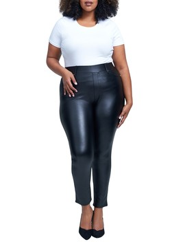 Faux Leather Leggings (Plus Size) by Seven7