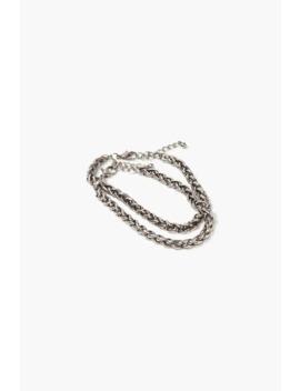 Men Rope Chain Bracelet Set by Forever 21