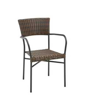Mocha Stacking Chair by Del Rey Collection