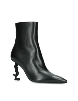 Leather Opyum Ankle Boots 85 by Saint Laurent
