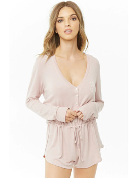 Need More Sleep Graphic Pajama Romper by Forever 21