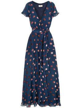 Devoré Chiffon Wrap Dress by Temperley London