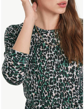 Hush Celina Animal Print Jumper, Vintage Leopard by Hush