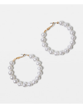 Brittany Pearl Hoop Earrings by Au