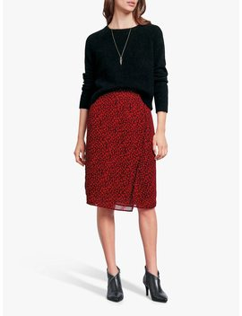 Hush Dionne Floral Skirt, Floral Black/Red by Hush