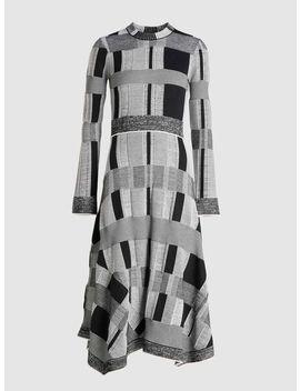 Patchwork Long Sleeve Midi Dress by Proenza Schouler