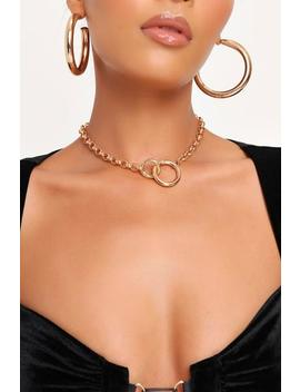 Gold Gold Chain Link Choker by I Saw It First
