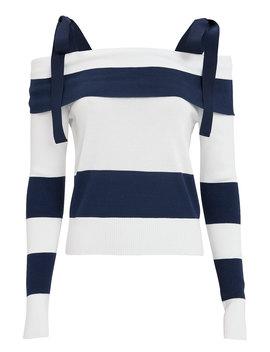 Stripe Tie Shoulder Sweater Stripe Tie Shoulder Sweater by Adeam Adeam