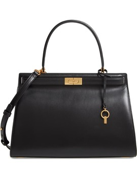 Large Lee Radziwill Leather Bag by Tory Burch
