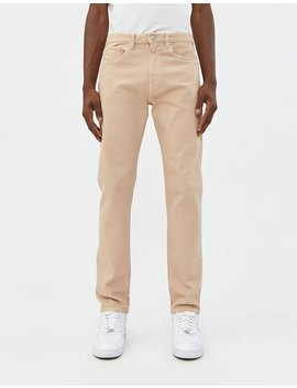 Tapered 5 Pocket Jean In Beige by Jeanerica Jeanerica
