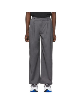 Grey Two Way Trousers by Ader Error