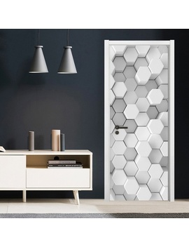 "Simple Personality Diy 3 D Simple Art 3 D Mosaic Geometric Lattice Door Sticker Self Adhesive Waterproof Wallpaper Post For Home Decor 30x79"" (77x200cm) by Wish"