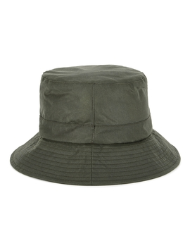 Bez Green Waxed Cotton Bucket Hat by Barbour X Alexa Chung