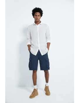 Textured Linen Shirt by Zara