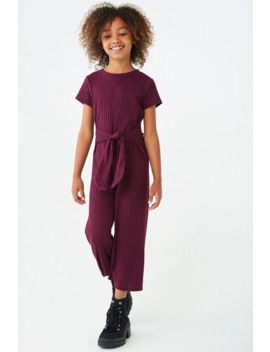 Girls Ribbed Jumpsuit (Kids) by Forever 21
