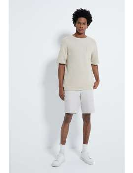 Textured Weave Short Sleeve Sweatshirt by Zara