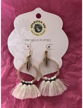 White Iced Tassel Earrings by Spartina 449