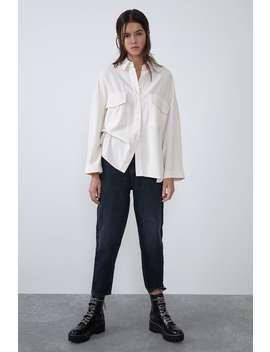 Oversize Skjorte Med Lommer by Zara