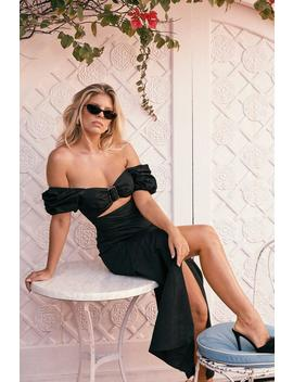 Summer Breeze Puff Sleeve Maxi Dress by Nasty Gal