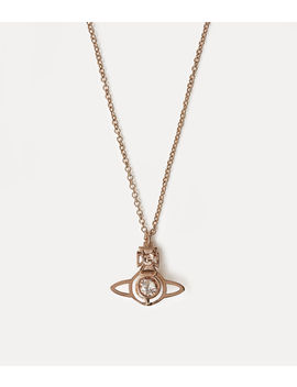 Nora Pendant Pink Gold Tone  by Vivienne Westwood