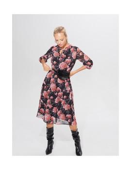 Midi Sukienka Z Wiązaniem by Mohito